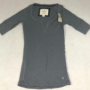 American Eagle Stretch Half Sleeve Shirt S NWT
